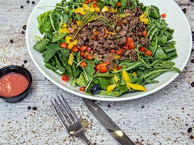 Beef Strips Salad