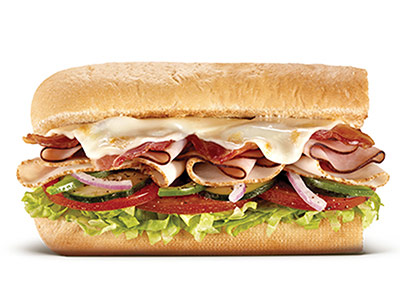 Subway Melt 6 Inch Sandwich
