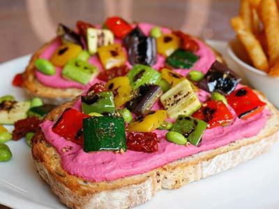 Hummus Toast Sandwich