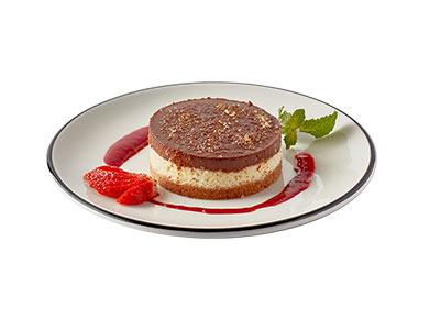 Chocolate Cream Brulee Cheesecake