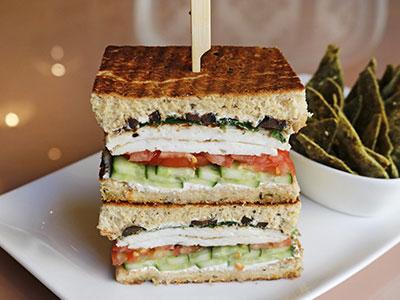Halloumi Focaccia Sandwich