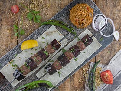 Eggplant Kabab Plate