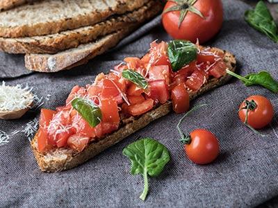 Traditional Tomato Bruschetta