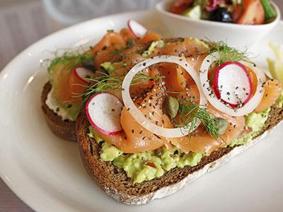 Smoked Salmon Crostini Sandwich