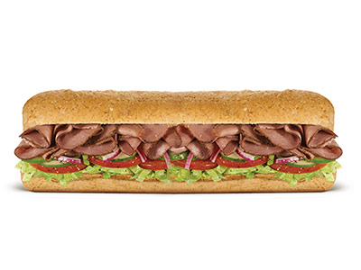 Roast Beef Footlong Sandwich