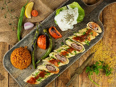 Sarma Beyti Kabab Plate