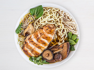 Corn-fed Grilled Chicken Miso Noodles