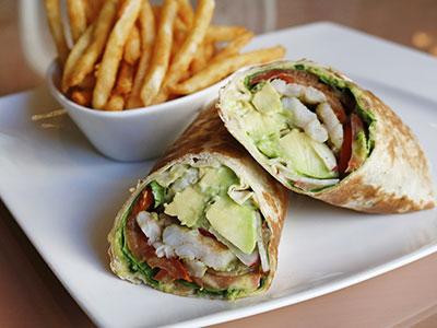 Shrimp With Avocado Wrap Sandwich