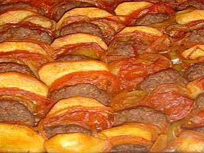 Kofta Potato Platter