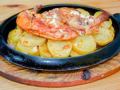 Garlic Chicken Potato Platter