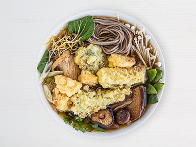 Vegetarian Tempura Noodles