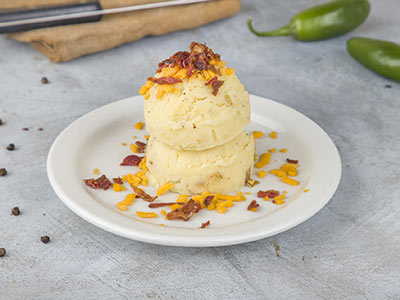 Loaded Mashed Potato With Cheddar Cheese