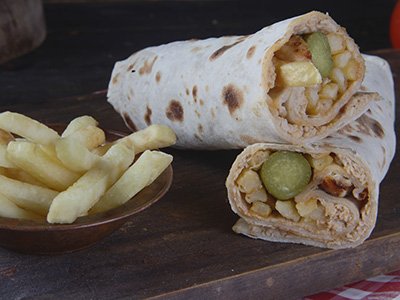 Chicken Shawarma In Dough