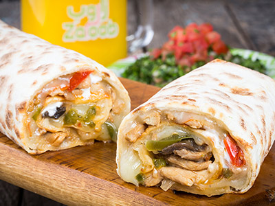 Chicken And Mushrooms Wrap