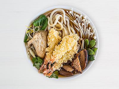 Prawn Tempura Noodles