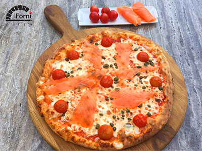 Large Salmon Pizza