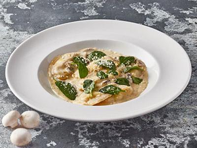Ravioli Filled With Mushroom And Ricotta Pasta