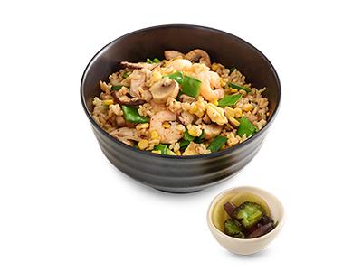 Chicken & Prawns Donburi