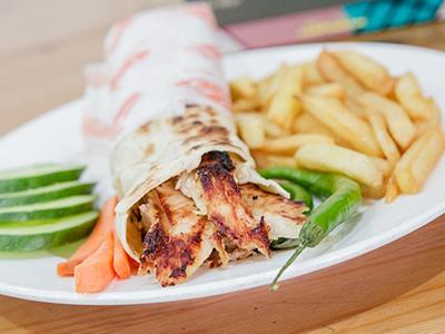 Large Chicken Shawarma Saj Bread