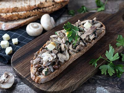 Wild Mushrooms & Taleggio Bruschetta