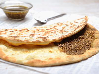 Zaatar & Cheese Manoushe