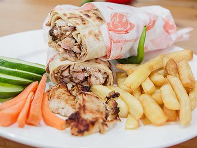 Chicken Shawarma Saj Bread