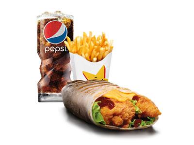 Chicken Tender Wrap Bbq