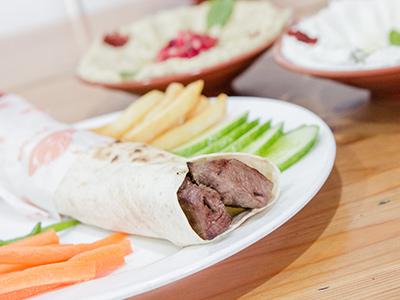 Grilled Meat Tikka Sandwich