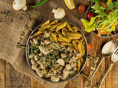Chicken Mushroom Plate