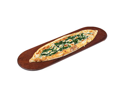Cheese Pide With Spinach