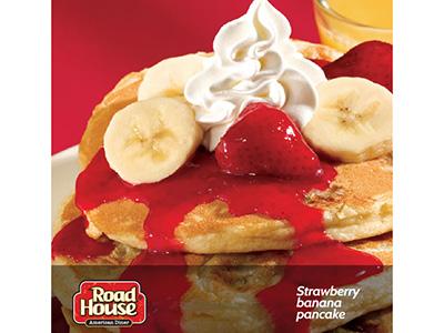 Strawberry Banana And Pancake