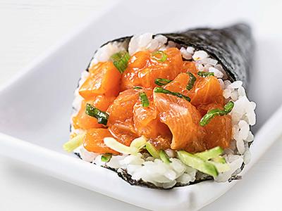 Spicy Salmon Temaki Hand Roll