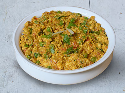 Mutter Paneer Bhurji