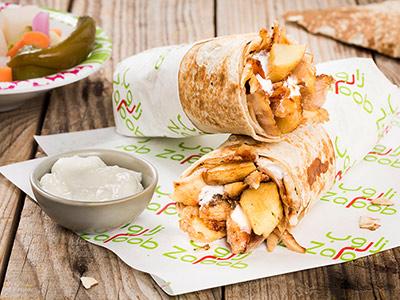 Chicken Shawarma Sandwich Saj