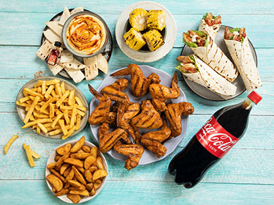 Wings And Wraps Platter