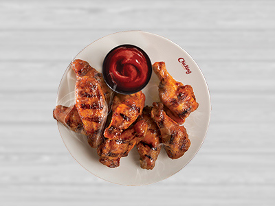 Grilled Hot Wings - 4 Pcs