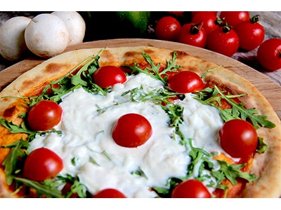 Small Cream Cheese And Rocket Pizza