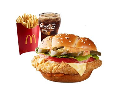 Spicy Crunchy Chicken Sandwich Medium Meal