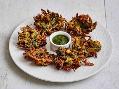 Onion Palak Bhaji