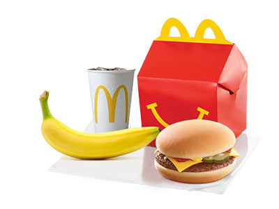 Happy Meal Cheeseburger With Banana