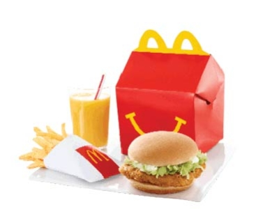 Chickenburger Happy Meal