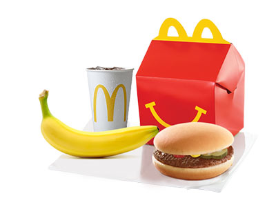 Happy Meal Beefburger With Banana