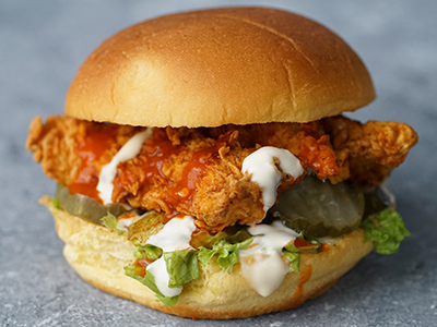 Buffalo Fried Chicken Burger