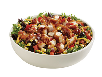 Honey BBQ Crispy Chicken Salad