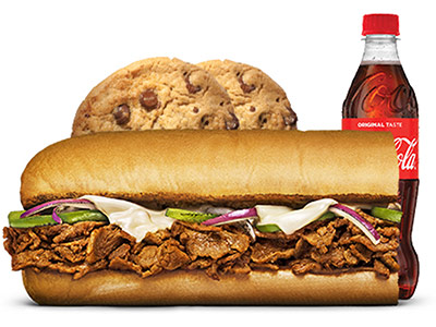 Steak And Cheese 6 Inch Meal