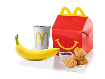 Happy Meal 4pcs Chicken Mcnuggets With Banana