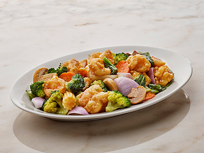 Stir Fry Prawns And Vegetables