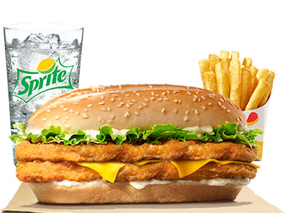 Double Chicken Royale Meal Medium
