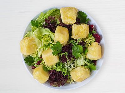 Tofu Tempura Salad